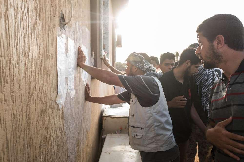 Au terme de la journée de combats du 21 juin, une liste de 34 morts et de 150 blessés parmi les opposants à l'EIest affichée.