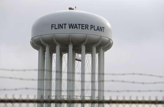 L'usine de traitement d'eau de Flint, le 23 janvier.