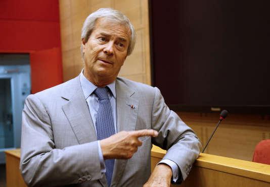 Le président du conseil de surveillance de Vivendi lors de son audition au Sénat, mercredi 22 juin. REUTERS/Jacky Naegelen