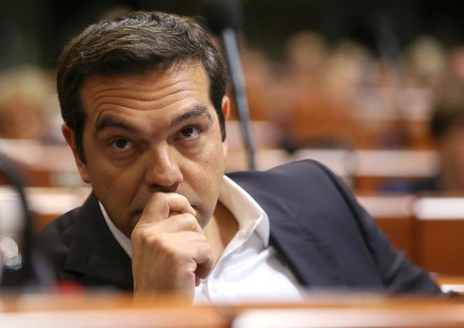 Alexis Tsipras, au Conseil de l'Europe à Strasbourg, le 22 juin.