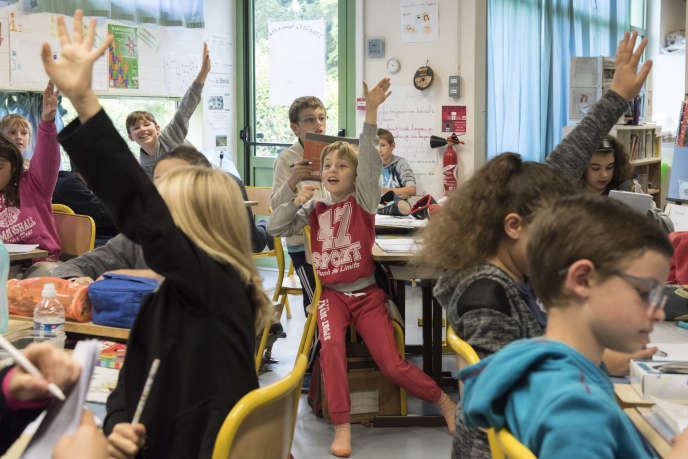 Dans la classe de Philippe Viard, la journéecommence toujours par un temps de parole.