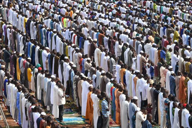 Célébration de l'Aïd Al-Adha à Ouagadouou, en septembre 2015.