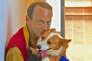 MichelHouellebecq et son chien.