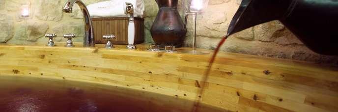 Spa «vinothérapie» à Laguardia, La Rioja Alavesa, Espagne.