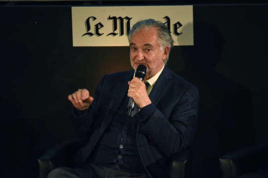 Jacques Attali, mercredi 22 juin, au journal «Le Monde», à Paris, invité du Club de l'économie.