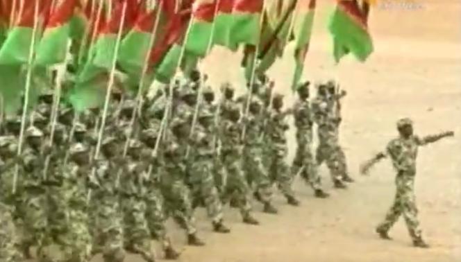 Capture d'écran d'une vidéo de propagande du régime érythréen.