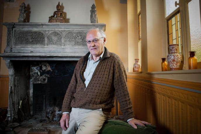 Bernard Sainz le 20 juin dans sa demeure d'Almenèches dans l'Orne .© Jérôme LALLIER