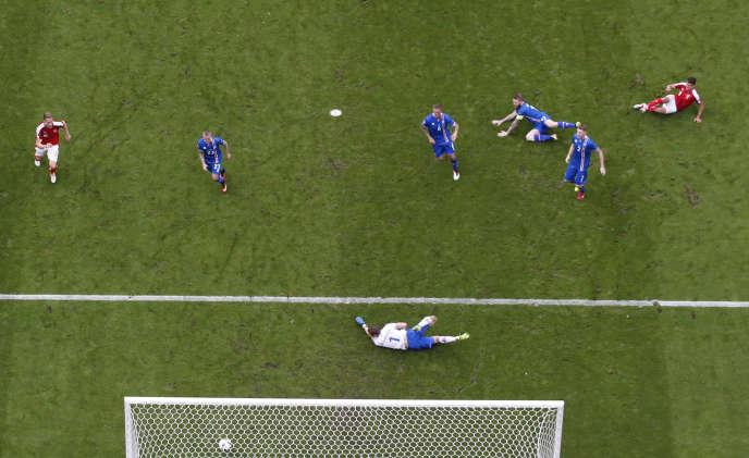 Le match Islande-Autriche.