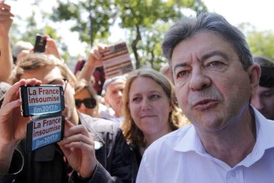 Jean-Luc Mélenchon, le 23 juin à Paris, lors de la manifestation contre la réforme du code du travail.
