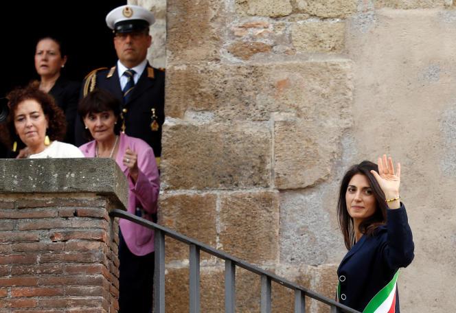 Virginia Raggi, nouvelle maire de Rome et membre du Mouvement 5 étoiles, le 23 juin.