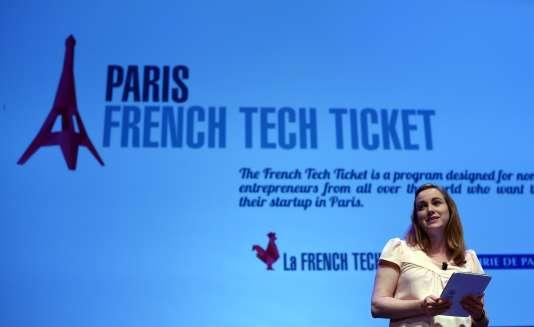 Axelle Lemaire, secrétaire d'Etat chargée du numérique et marraine de la French Touch Conference, à New York, en 2015.