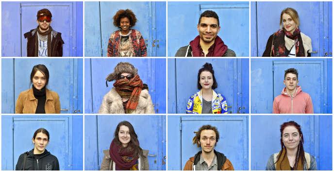 Des portraits d'étudiants à Rennes, le 7 avril.
