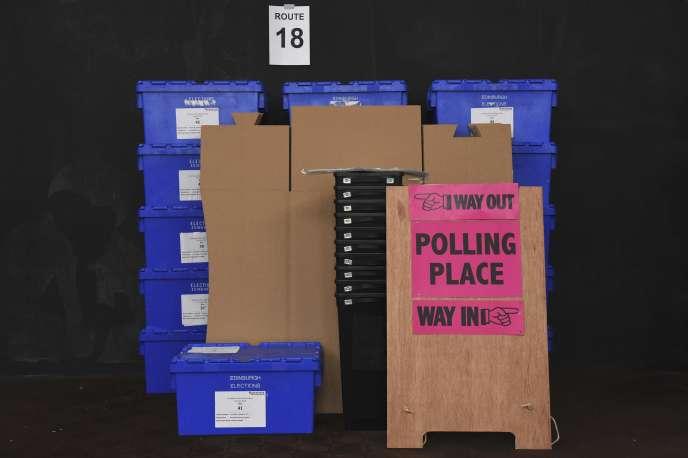 Matériel électoral destiné au référendum, à Edimbourg, le 22 juin 2016.
