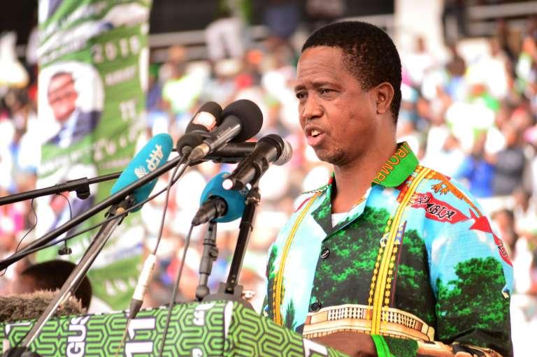 Le président zambien Edgar Lungu, candidat à sa réélection pour le scrutin du 11 août 2016.