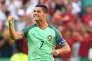 Cristiano Ronaldo après son deuxième but contre la Hongrie, le 22 juin, à Lyon.