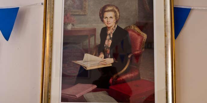 Portrait de Margaret Thatcher.