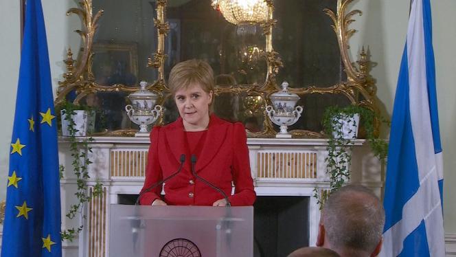 Nicola Sturgeon à Edinbourg, le 24 juin.