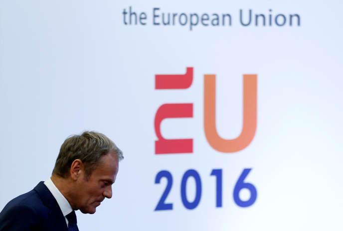 Le président du Conseil de l'Europe,Donald Tusk, le 24 juin, à Bruxelles.