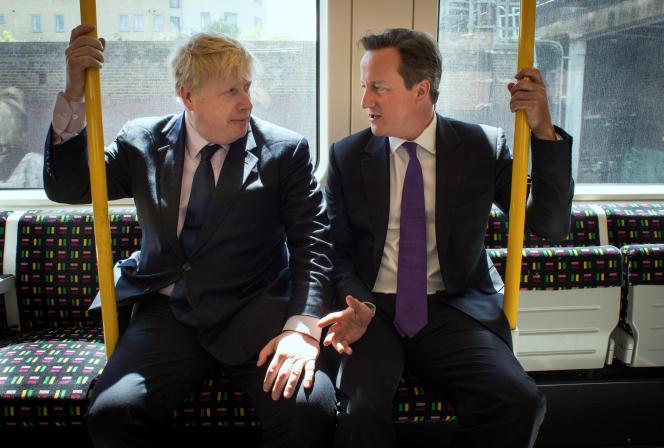 Le premier ministre David Cameron et son successeur potentiel, Boris Johnson, en mai 2014, à Londres.