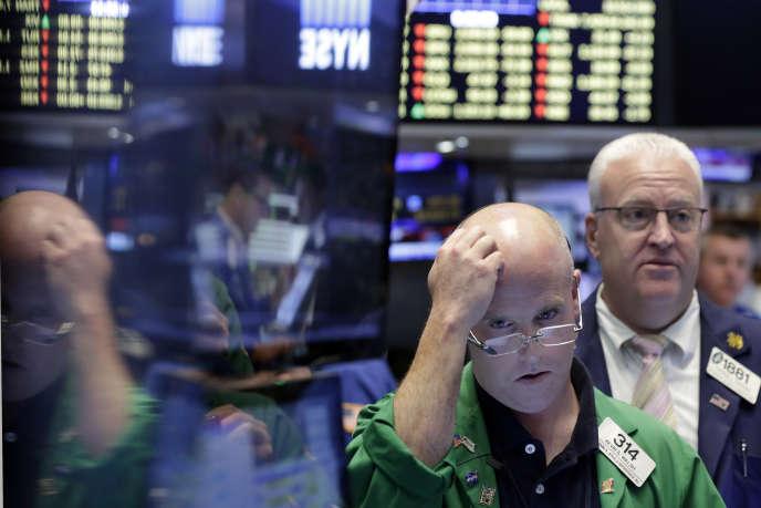 La Bourse de New York est elle aussi en chute le 24juin.
