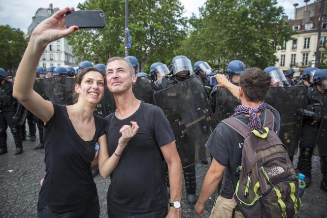 Place de la Bastille, jeudi 23 juin.