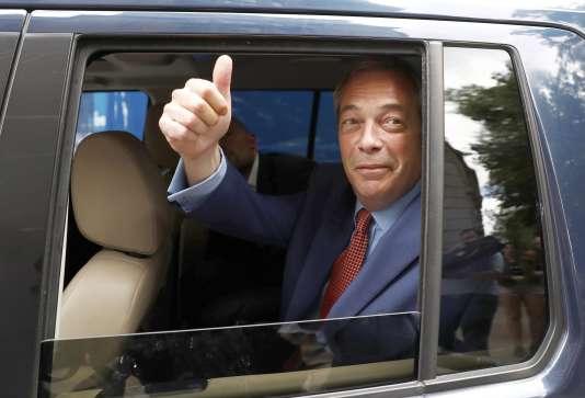 Nigel Farage,le leader par intérim du Parti pour l'indépendance du Royaume-Uni (UKIP), le 24 juin à Londres.
