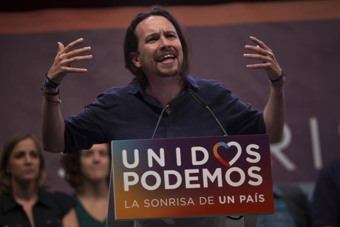Le leader de Podemos, Pablo Iglesias, vendredi 24 juin, à Madrid.