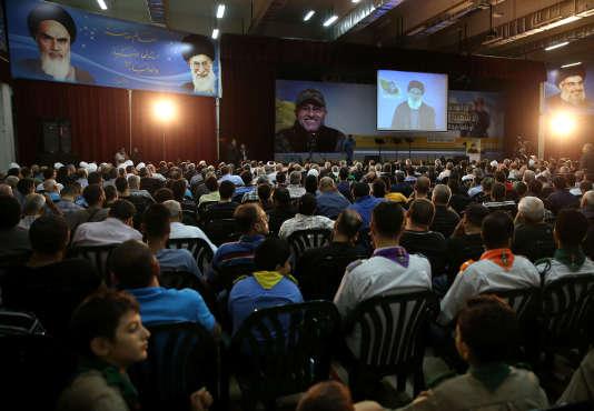 Lors d'une cérémonie de commémoration de la mort de Moustapha Badreddine, à Beyrouth, en 2014.