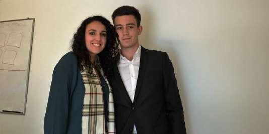 Simon Rivera et Sarah Tijari, étudiants français d'HEC Montréal.