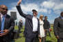 Donald Trump sur son golf de Turnberry, en Ecosse, le 24 juin.