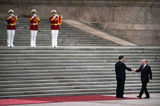 Xi Jinping et Vladimir Poutine à Pékin, le 24 juin 2016.