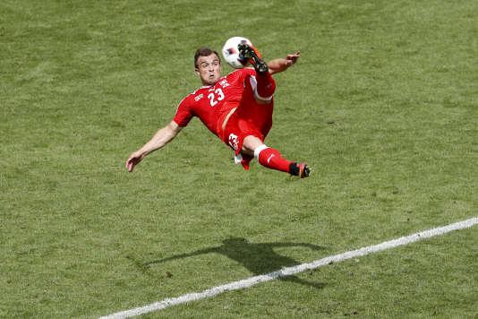 Xherdan Shaqiri a marqué le but suisse d'un retourné acrobatique.
