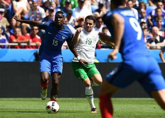 Paul Pogba lors du huitième de finale France-Irlande, le 26 juin, à Lyon.