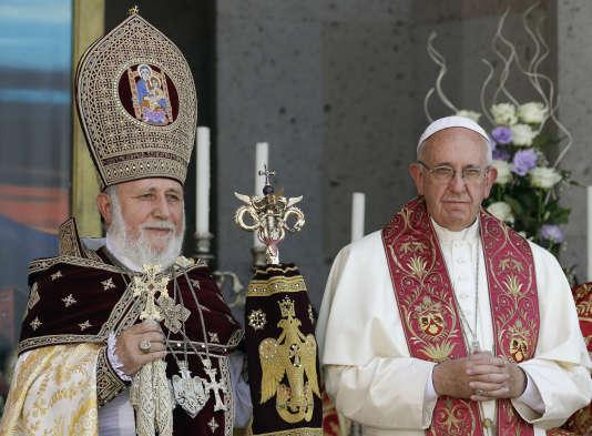 Le pape François à Erevan, en Arménie, le 26 juin.