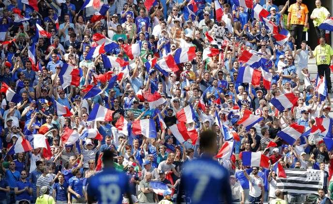 Lors du quart de finale entre la France et l'Irlande, le 26 juin, à Lyon.