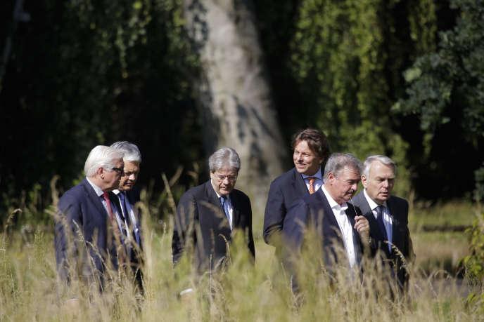 Les ministres des affaires étrangères des six pays fondateur de l'Europe se sont retrouvés à Berlin le 25 juin 2016.