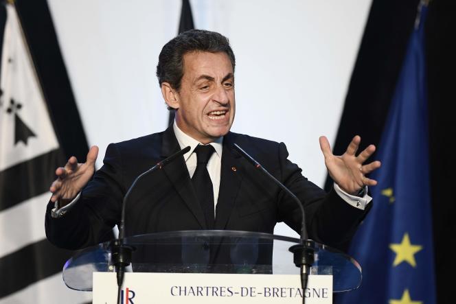 Nicolas Sarkozy, à Chartres-de-Bretagne, le 26juin.