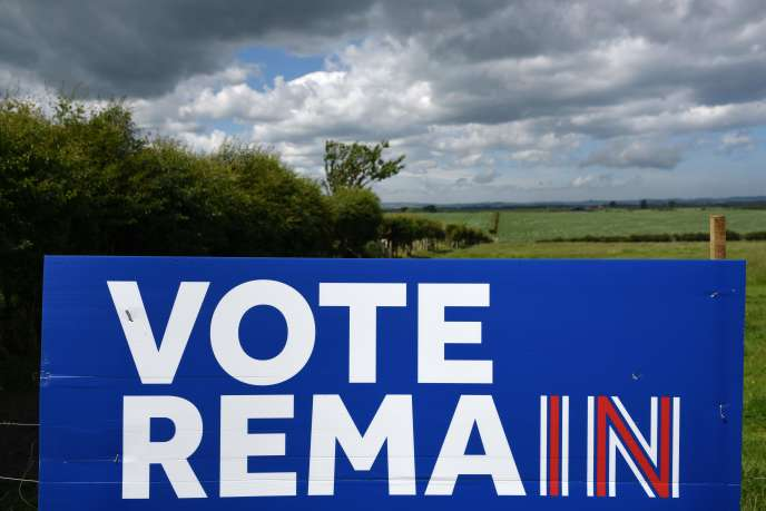 Panneau d'affichage en faveur du « remain» dans le nord-est de l'Angleterre.
