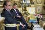 François Hollande et Manuel Valls au palais de l'elysée le 25 juin.