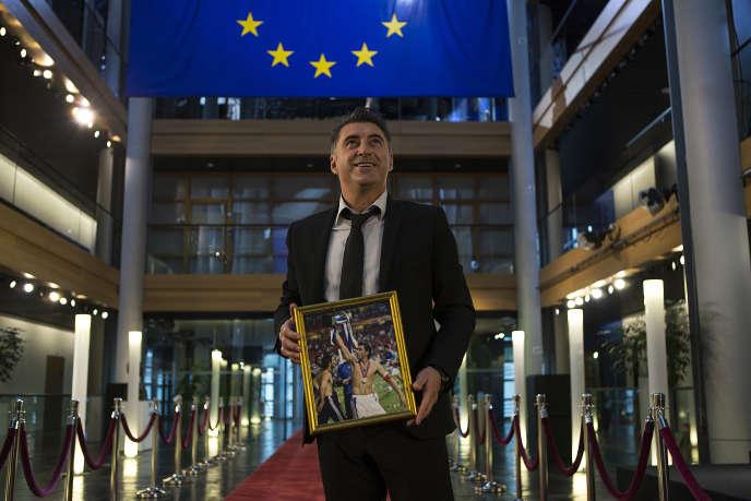 Theodoros Zagorakis, le 11 mai, au Parlement européen, à Strasbourg.