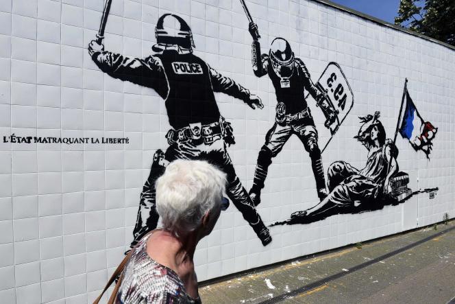 La fresque du street artiste Goin a créé la polémique à Grenoble dès son apparition, vendredi 24 juin.