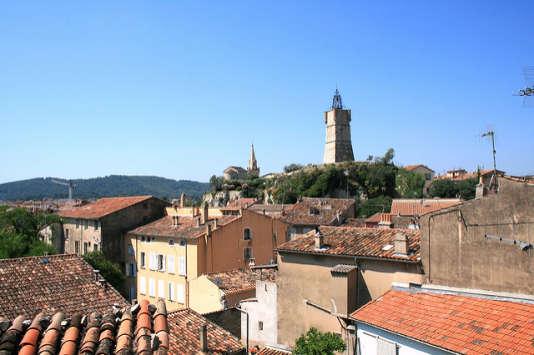 Vue sur les toits de Draguignan.