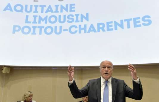 Le président de la région Aquitaine Limousin Poitou-Charente, Alain Rousset, au conseil régional.