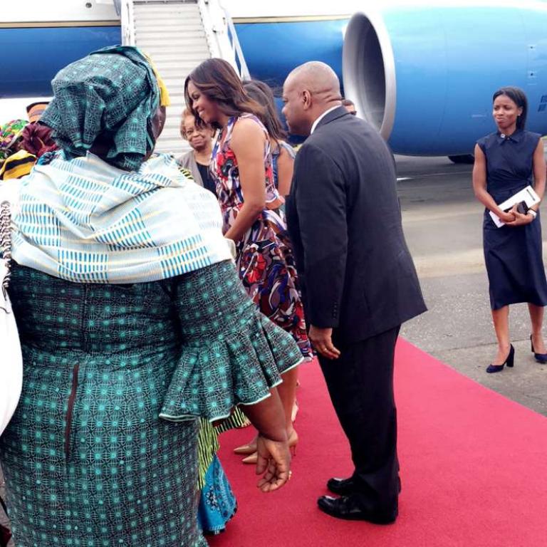 Michelle Obama, à Monrovia, le 27 juin 2016.