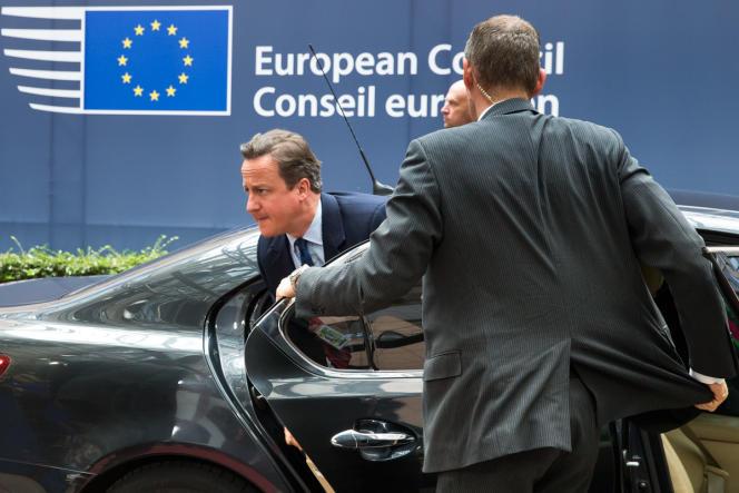 David Cameron arrive au Conseil européen à Bruxelles le 28 juin.