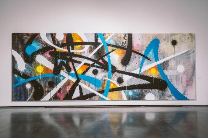 Une des toiles du graffeur français Mist.
