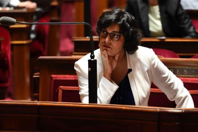 La ministre du travail, Myriam El Khomri, au Sénat, le 28 juin.