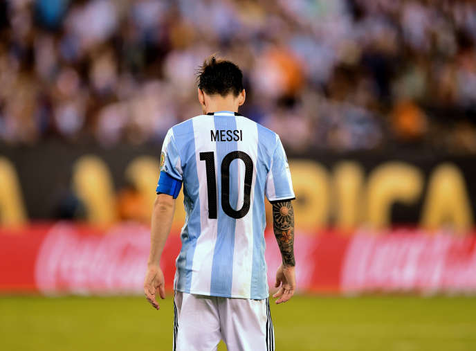 Lionel Messi, le 26 juin, après la finale contre la Copa America perdue contre le Chili.
