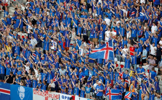 Les supporteurs islandais à Nice.