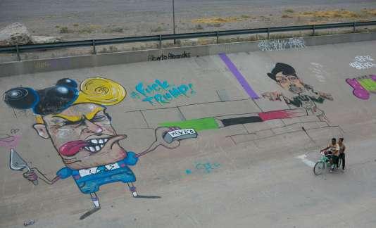 Un graffiti représentant Donald Trump, à Ciudad Juarez (Mexique), le 28 juin.